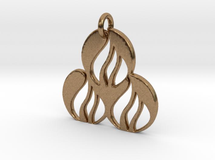 Fire Pendant 3d printed