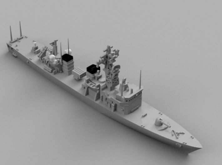 1/2000 JS Abukuma-class destroyer escort 3d printed Computer software render