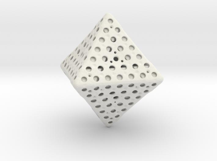 Holey Octahedron 3d printed