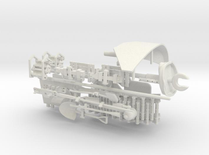 1:16 USA M5A1 Tools & Gun v2 3d printed