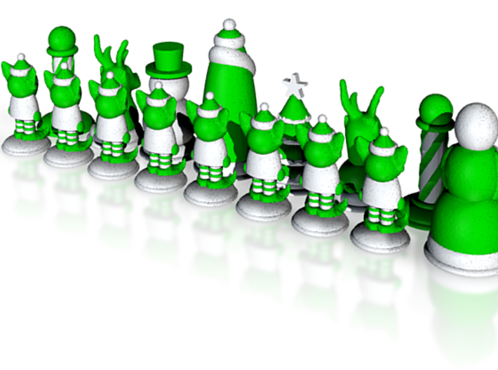 Chess365-Green Half 3d printed