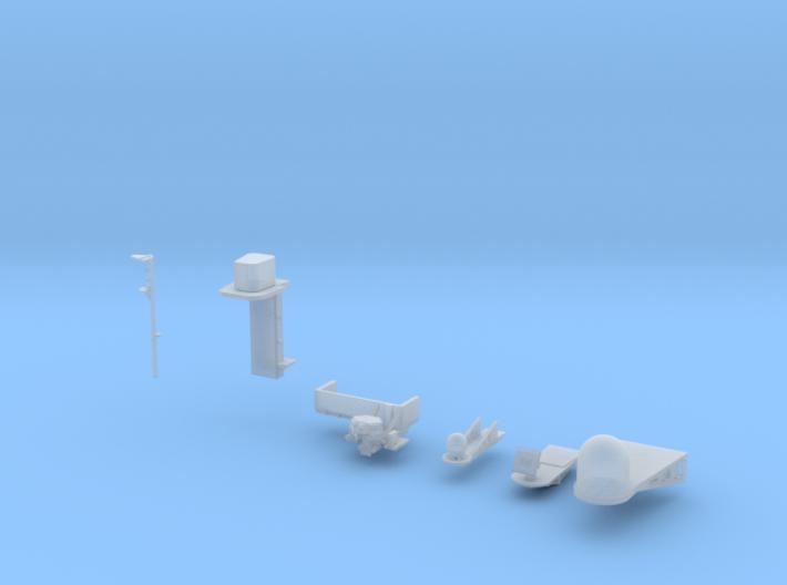 1:350 Scale Nimitz Class Electronics Platforms #2 3d printed
