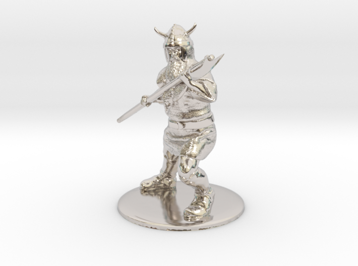 Dwarf with Bardiche Miniature 3d printed