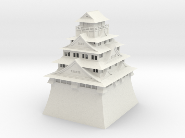 Osaka Castle 3d printed