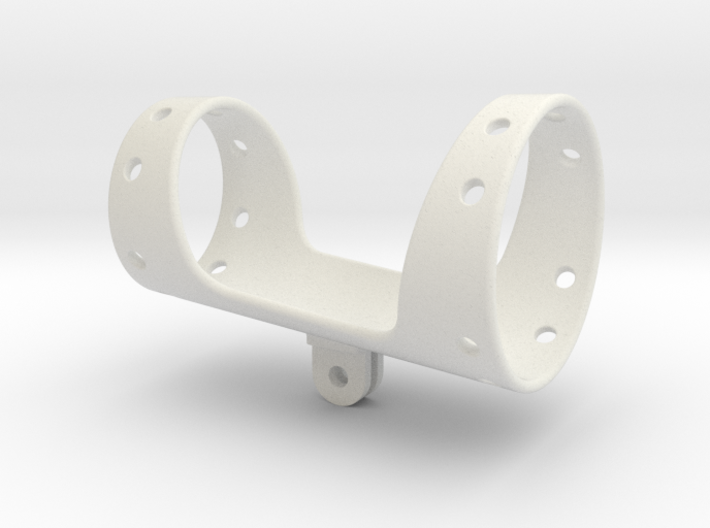 Shotgun microphone shock mount (GoPro connector) 3d printed