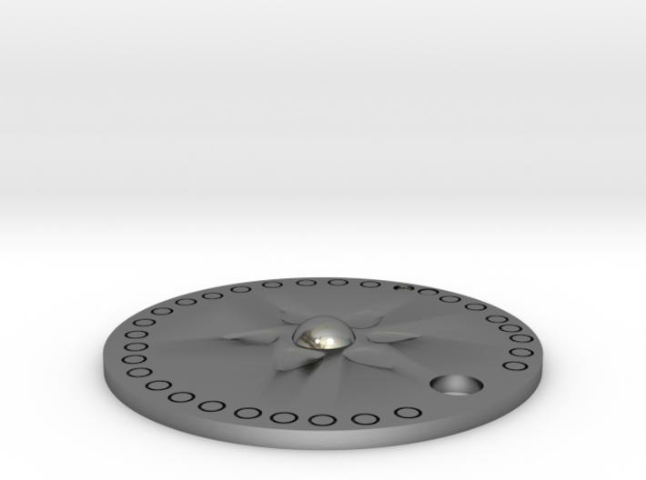 Disc Pendant 3d printed