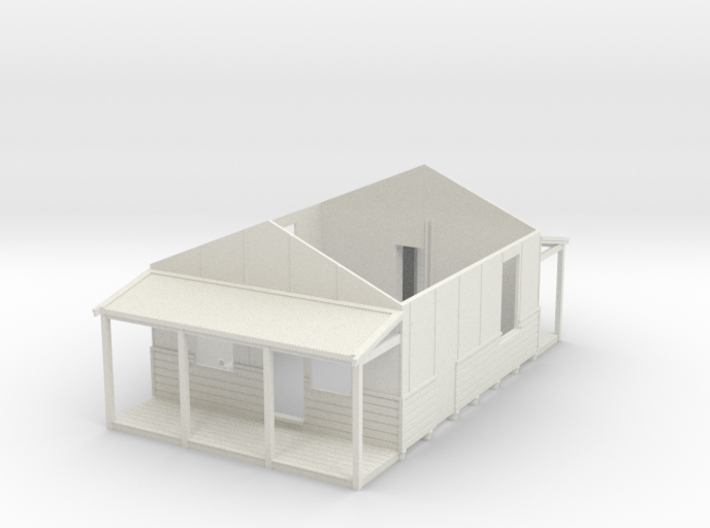 HO NSWR Fettlers Cottage Main Structure 3d printed