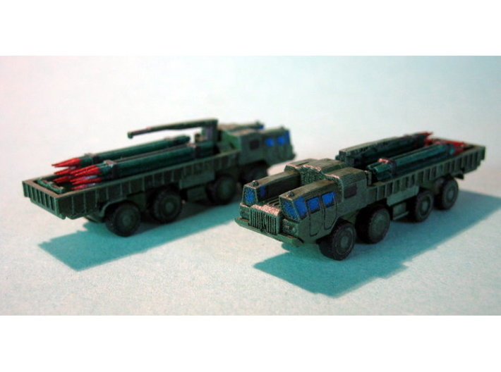 9T234 Smerch Ammo Truck 1/200 3d printed 1/285 Models shown