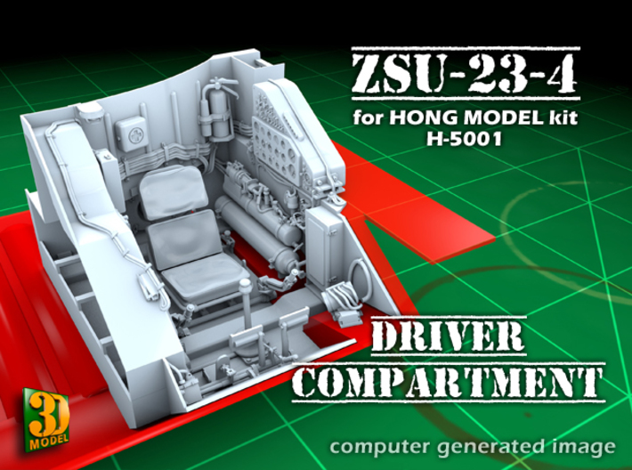 ZSU-23-4 Shilka driver compartment (HONG) 3d printed