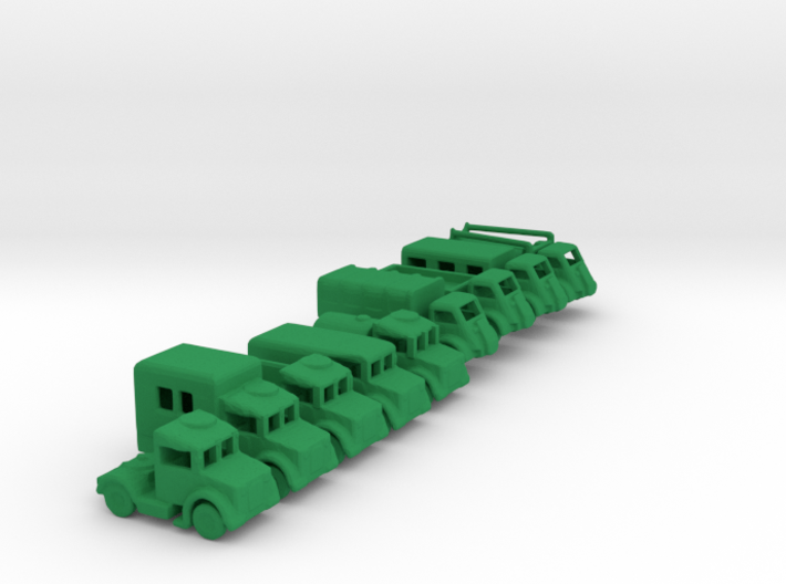 1/200 Scale Bedford Truck Set Of 9 3d printed