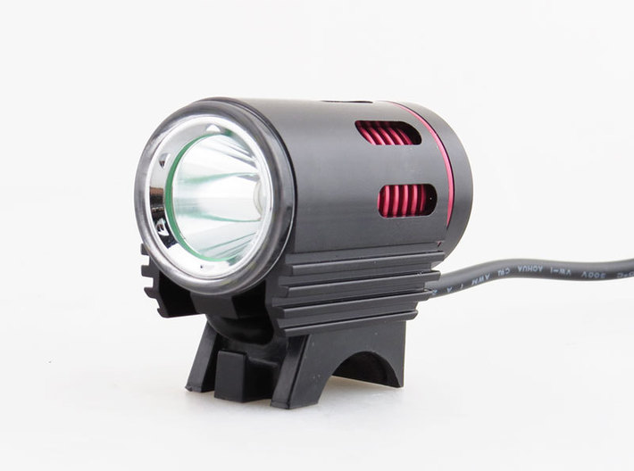 V1.1 GoPro bike headlamp mount 3d printed Example of a generic single LED Chinese light - compatible