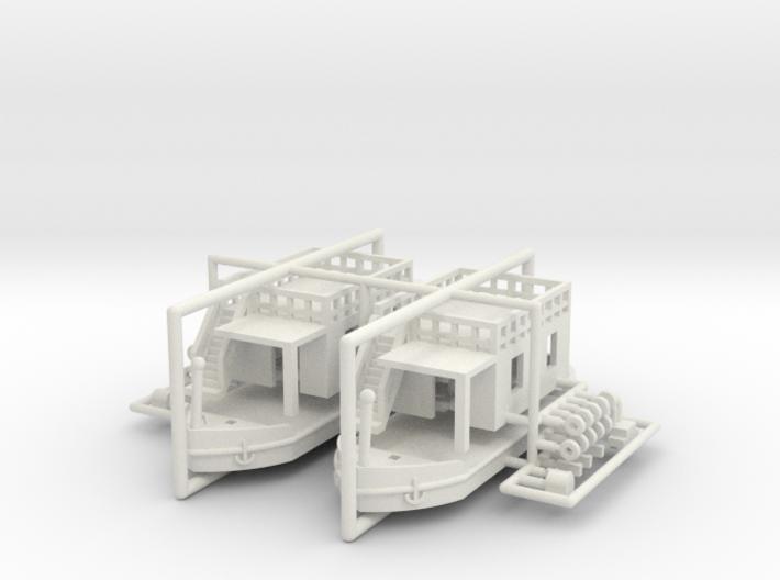 2 Hausboote Set 1 - 1:220 / 1:160 3d printed