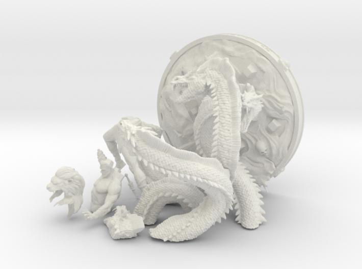 Hercules versus Hydra 3d printed