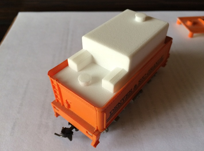 Oil bunker for HO-Scale Tyco 4-6-0 or 4-8-0 3d printed