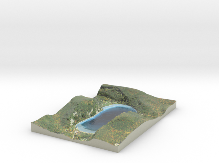 Devil's Lake Map - Bathymetry (1:9K) 3d printed