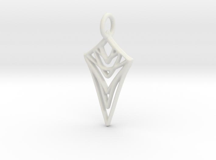 Melting Web Pendant 3d printed