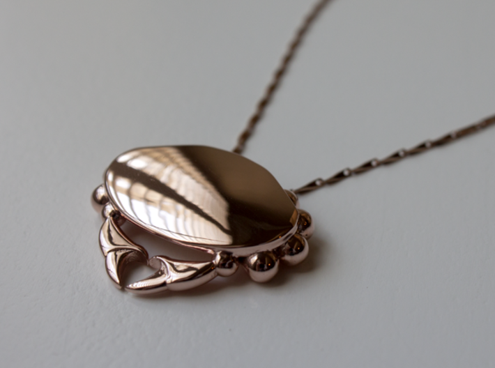 Crabby Love - Pendant 3d printed 14k Rose Gold Plated