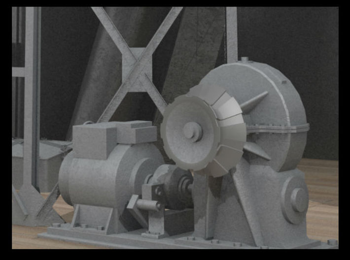 1/150 IJN Electric Deck Winch 3d printed