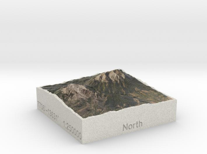 Spanish Peaks, Colorado, USA, 1:250000 Explorer 3d printed