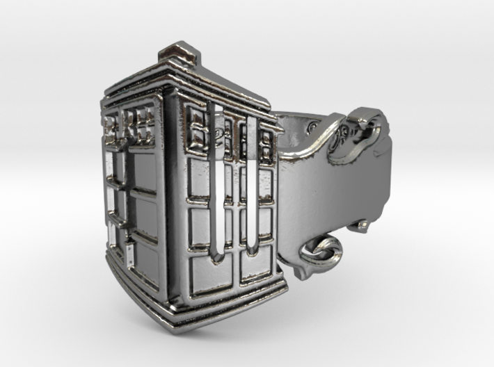 Dr. Who Upright Tardis Ring 3d printed
