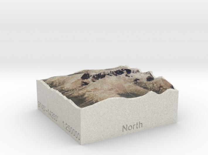 Longs Peak Area, Colorado, USA, 1:250000 Explorer 3d printed