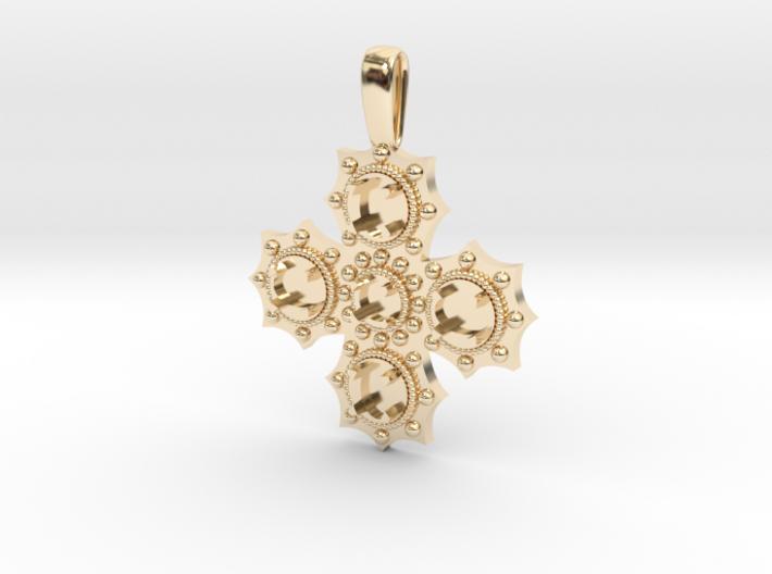 1475 medieval cross pendant 3d printed