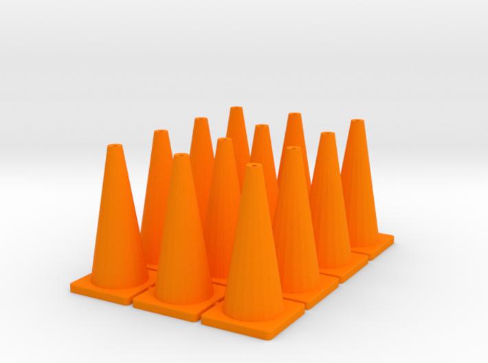"TC1, Traffic Cones, 1"" Tall, 12 pcs 3d printed"