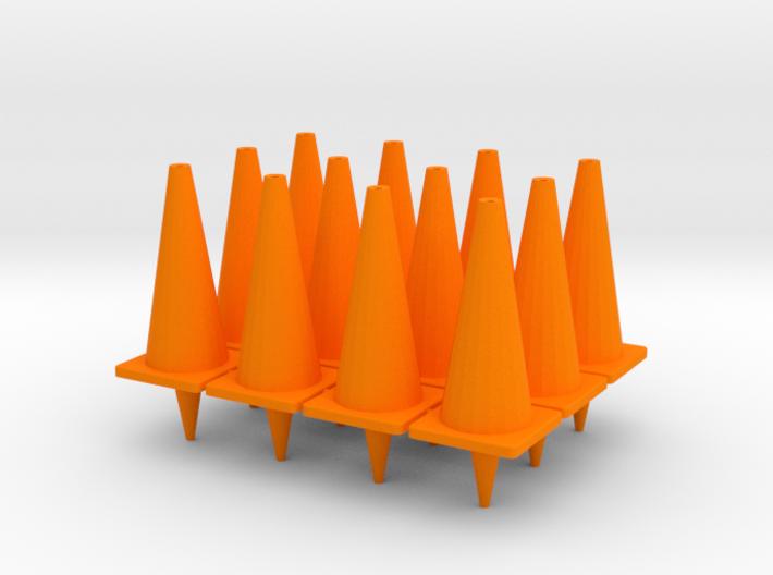 "TC2, Traffic Cones, 1"" Tall, 12 pcs 3d printed"