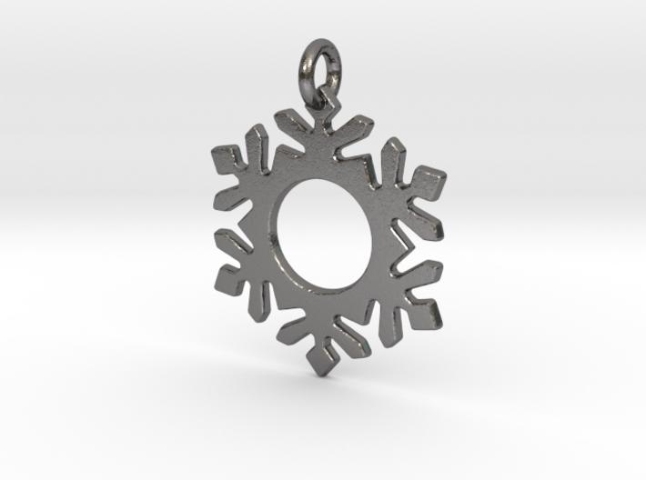 Snowflake 5 Pendant 3d printed