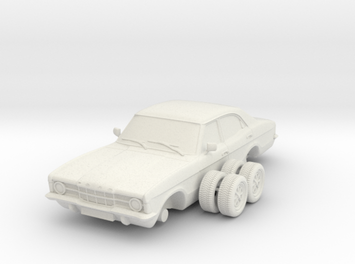 Ford Cortina Mk3 4 Door Single Round HL 1-25 3d printed