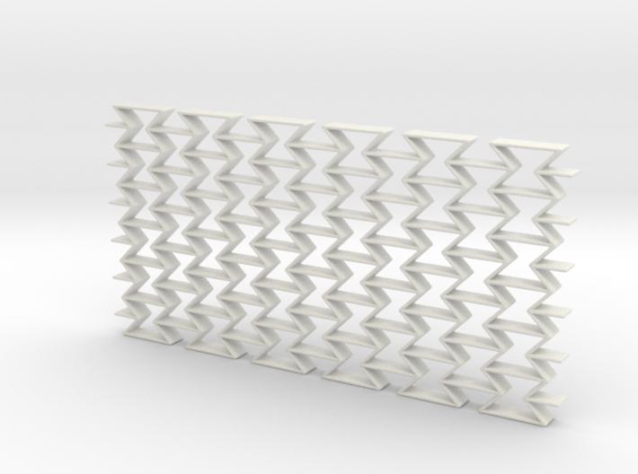 Negative Poisson metamaterial (hard) 3d printed
