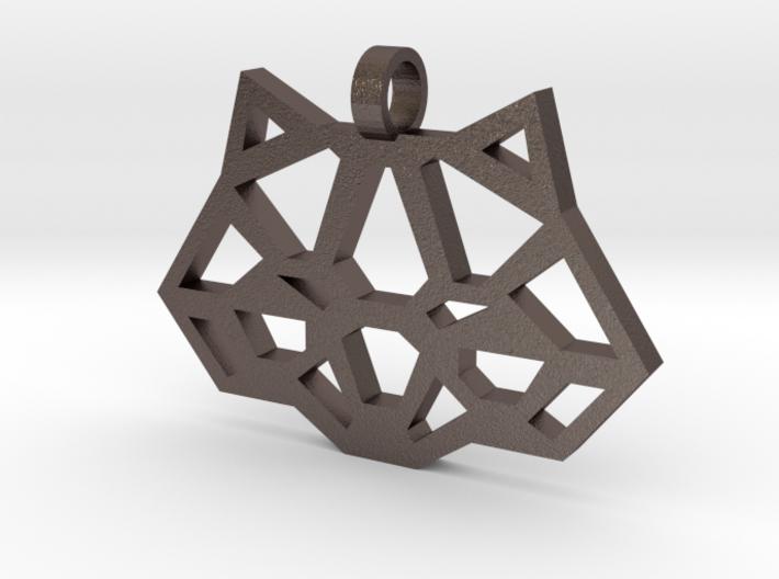 Geometric Panda Necklace 3d printed