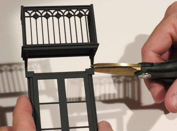 Architectural wall for Juliet balcony 3d printed Juliet Balcony with door -ordered separately -separating the balcony from the door