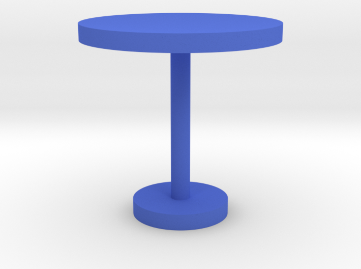 Modeling round table 3d printed