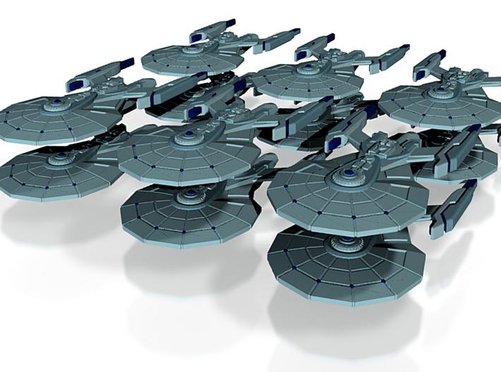 Garamond Class Attack Fleet of 12 Ships 3d printed