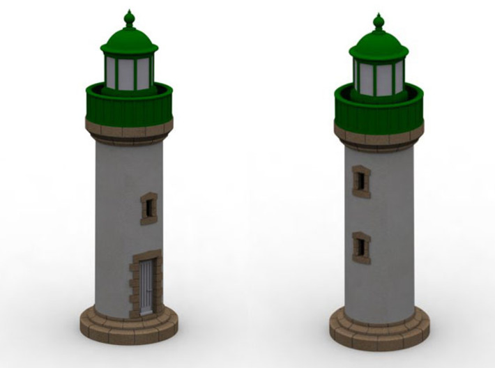 Zpb10 - Small brittany lighthouse 3d printed