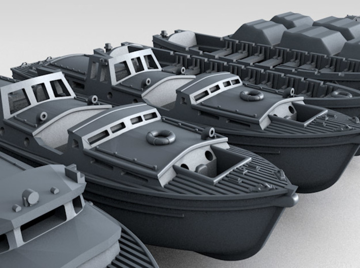 1/144 WW2 RN Boat Set 3 without Mounts 3d printed 3d render showing product detail