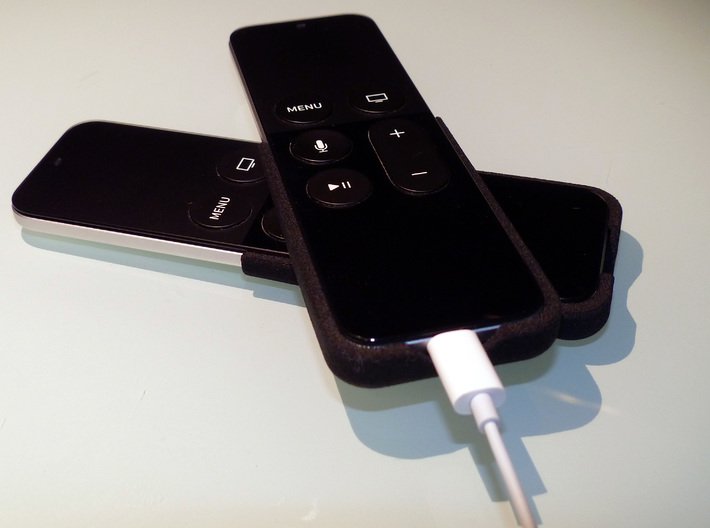 Apple TV, Siri Remote, Slim Skin 3d printed Opening at the bottom allows for charging the remote