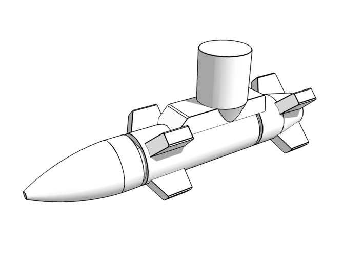 Transformers Missiles Vehicle Accessory (5mm post) 3d printed Set comes with 2 missiles.
