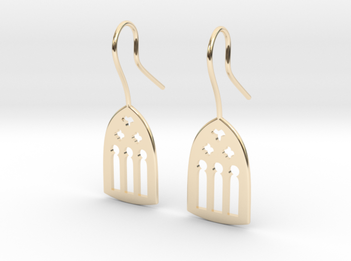 Cathedral Earrings 3d printed