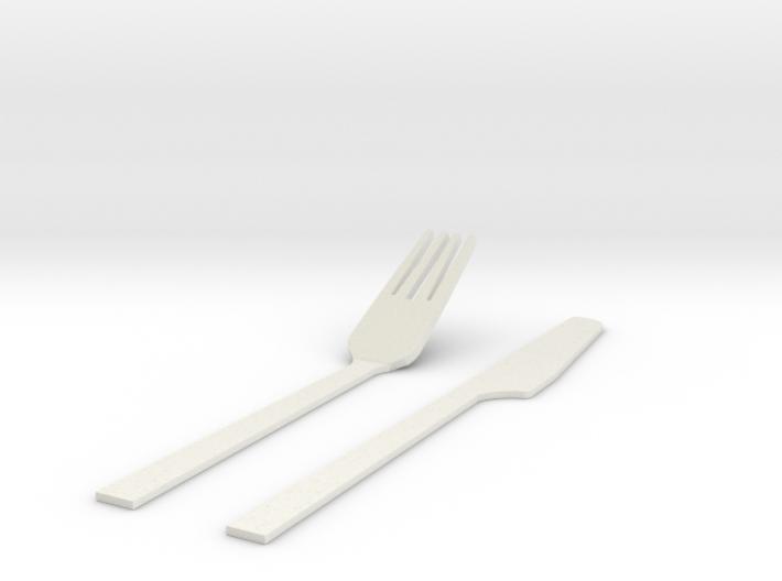刀叉.stl 3d printed