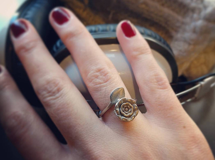 Wrap Ring - Rose 3d printed