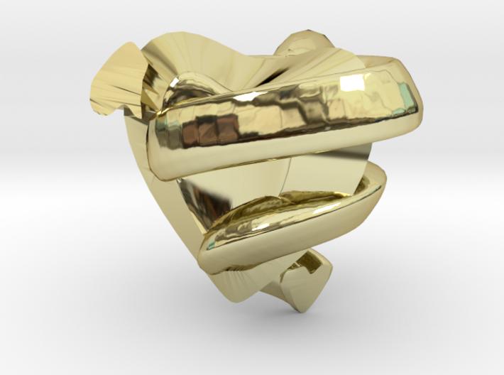 Heart&snake Pendant 3d printed