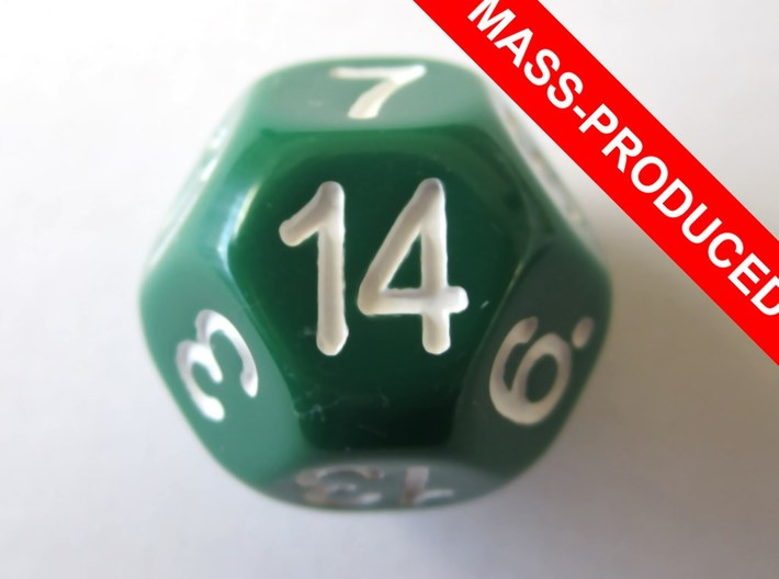 D14 Sphere Dice 3d printed the mass-produced version