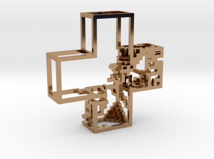 Pixel Pendant 3d printed