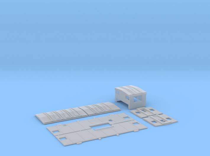 CRIP 17000-17061 EV Caboose Body Kit 3d printed