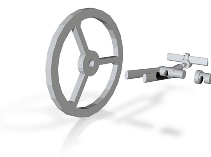 M-3 Fork-Wheel-Hub-Stem&Bars 3d printed
