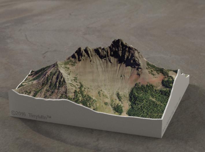 Three Fingered Jack, Oregon, USA, 1:15000 3d printed