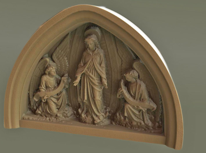 Church of the Immaculate Conception Strabane 3d printed 3Dcoat render