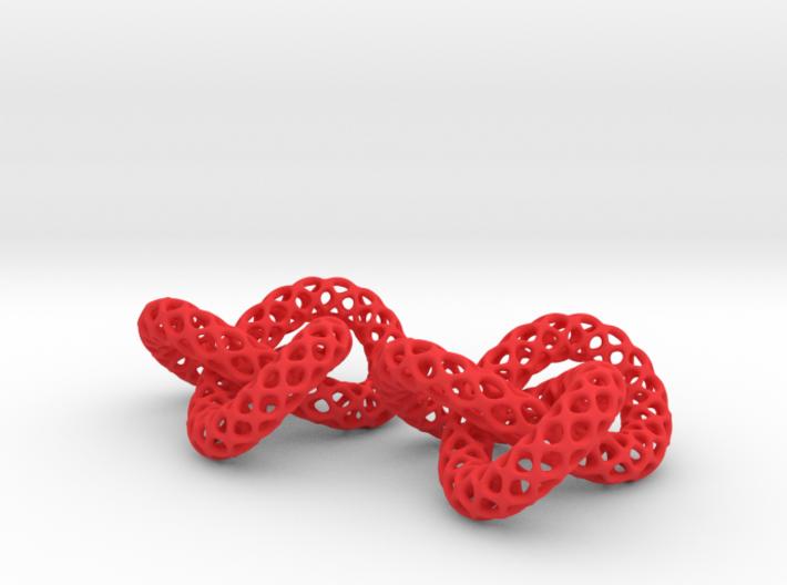 Trefoil -- Plastic 3D printed earrings 3d printed